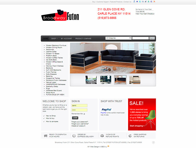 Broadway Futon & Furniture - Home Page