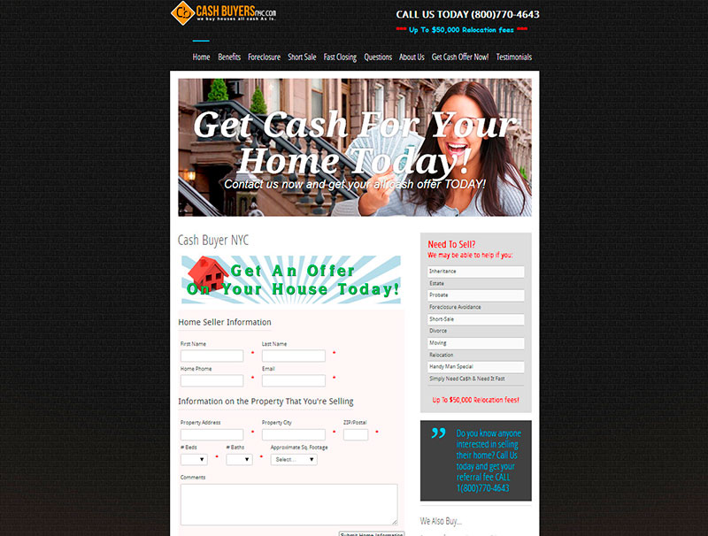 Cash Buyer NYC - Home Page