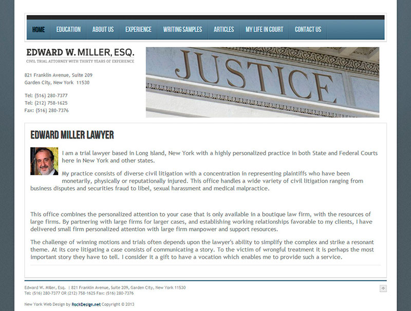 Edward W. Miller, Esq. - Home Page
