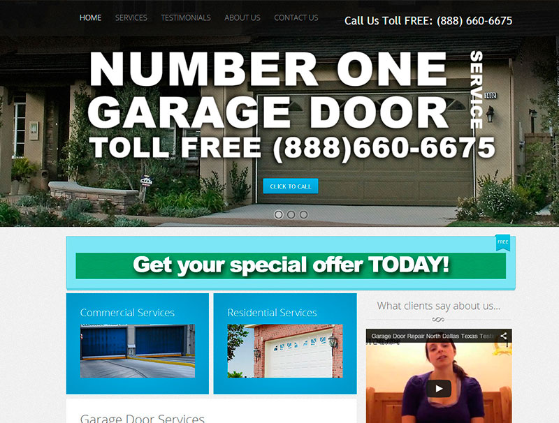 Number 1 Garage Door Service - Home Page